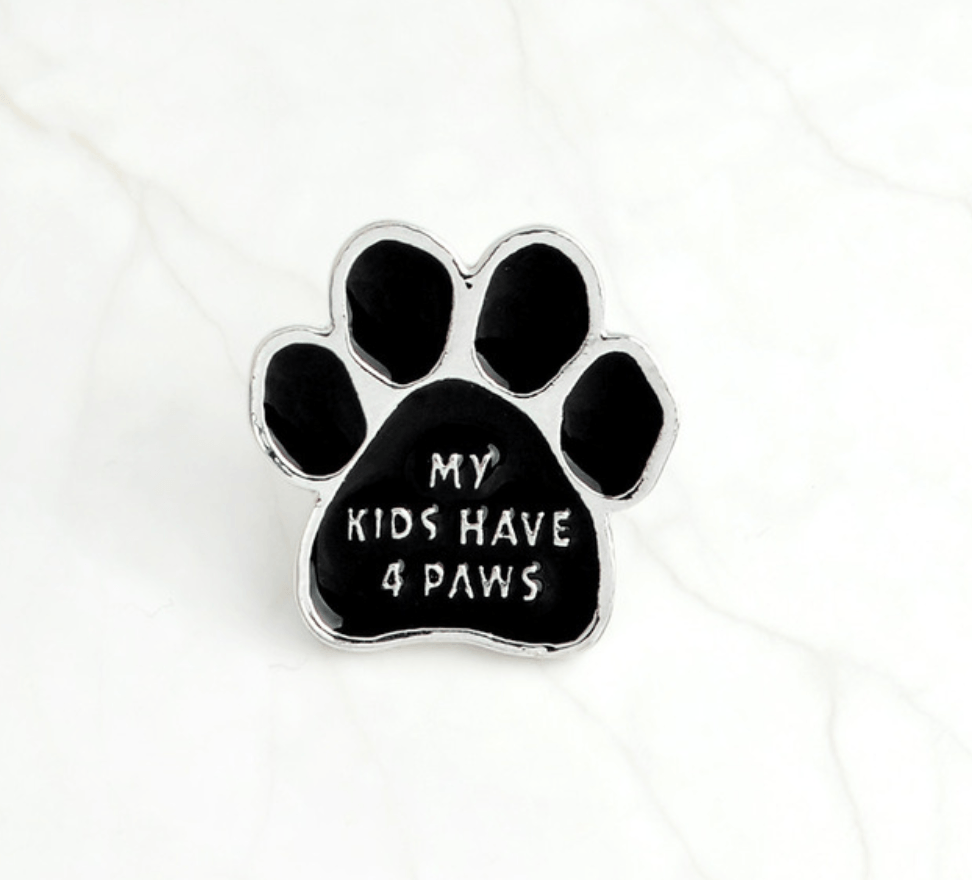 My Kids Have 4 Paws Pin - Mermaid Freak