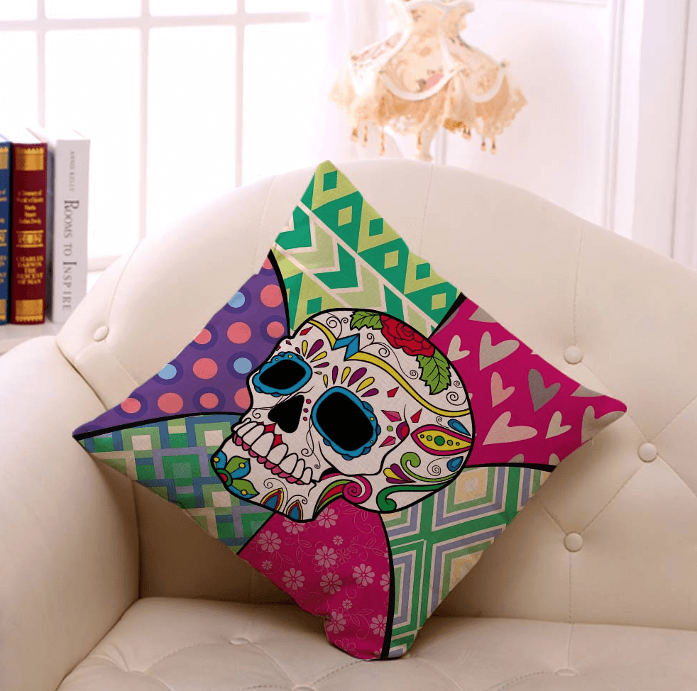 Mad Skull Tumblr Pillow Case - Mermaid Freak