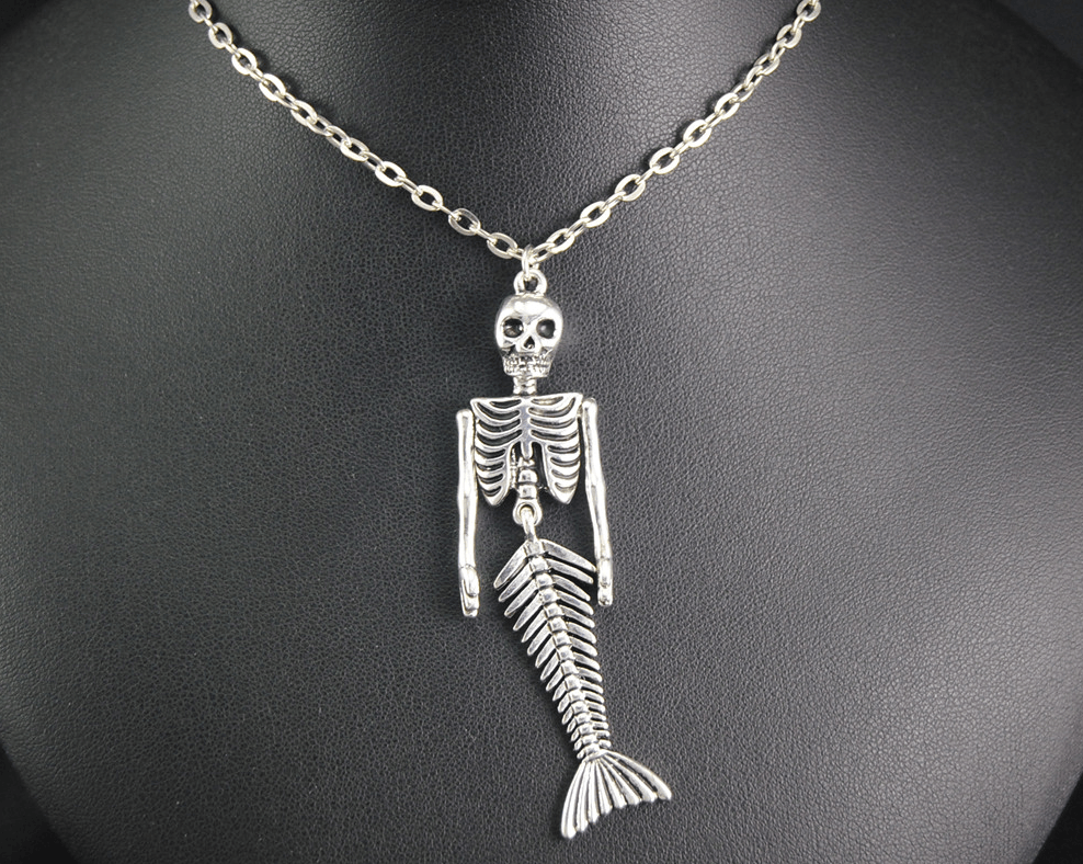 Mermaid Skelaton Necklace - Mermaid Freak
