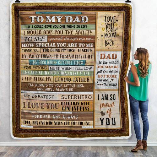 Dad and Son Blanket, From Dad to Son Blanket, Blanket for Son, My Dear Son, Gift from Dad to Son, Dad To Son Blanket NS1 - Mermaid Freak