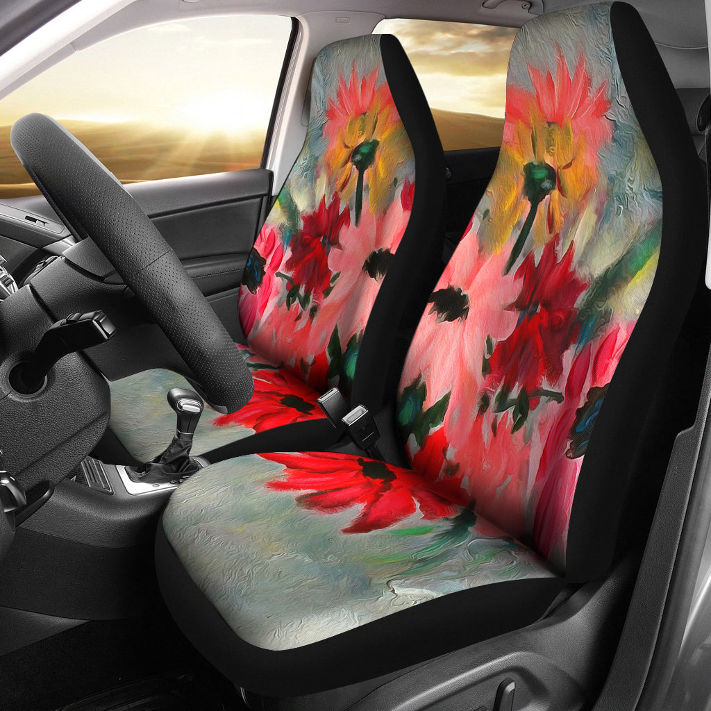 The Crystal Vase Car Seat Covers from Fine Art Painting - Mermaid Freak