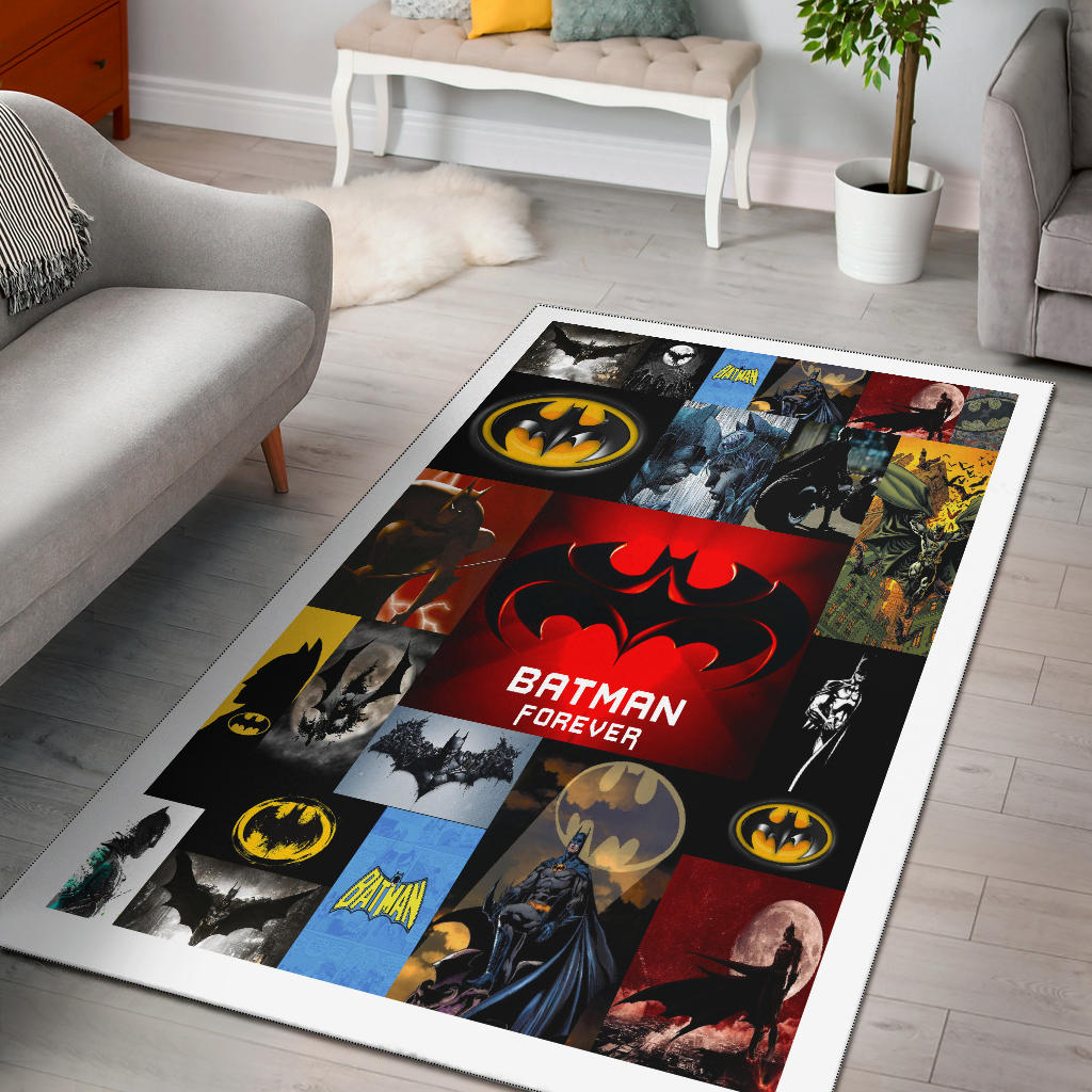 Batman Forever Theme Rug, Superhero Movie Lover's Gifts - Mermaid Freak