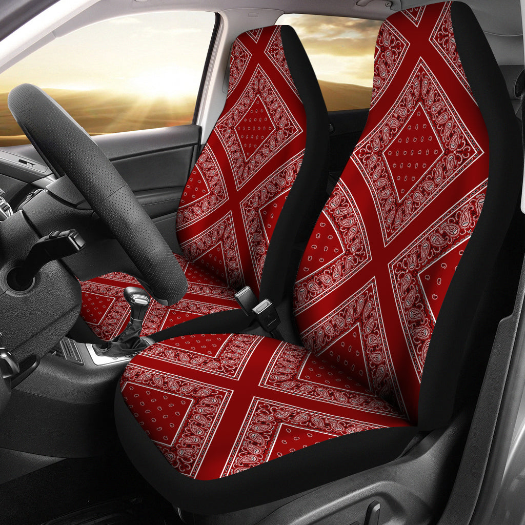Maroon Bandana Car Seat Covers - Diamond - Mermaid Freak