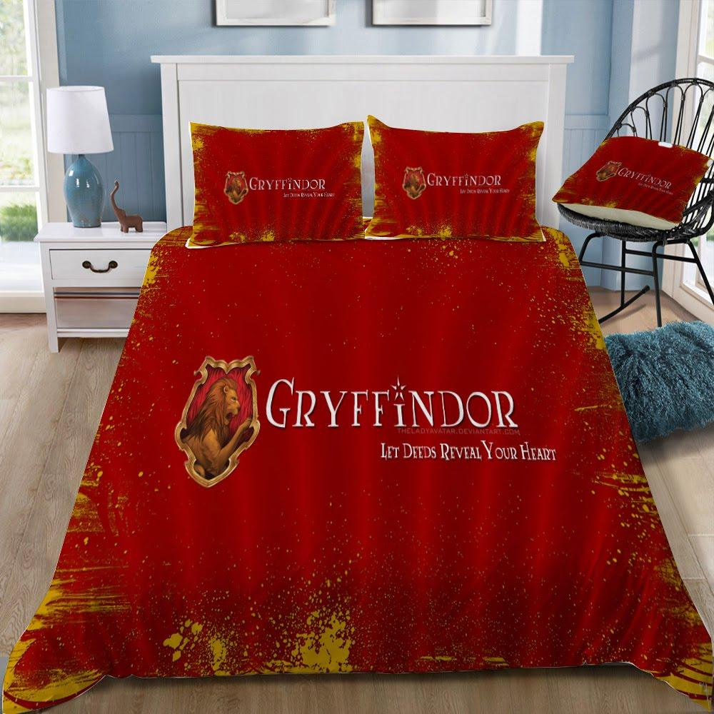 Gryffindor Let Deeds Reveal Your Heart Bedding Set - Mermaid Freak