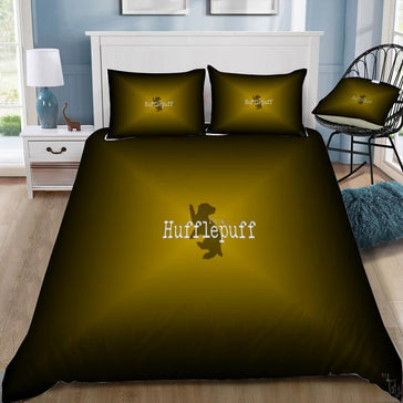 Harry Potter Dark Yellow Hufflepuff 3pcs Bedding Set - Mermaid Freak