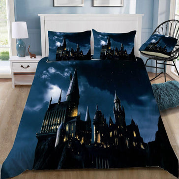 Harry Potter Hogwarts In The Night 3pcs Bedding Set - Mermaid Freak