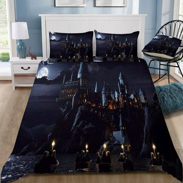 Harry Potter Hogwarts In The Night  Bedding Set - Mermaid Freak