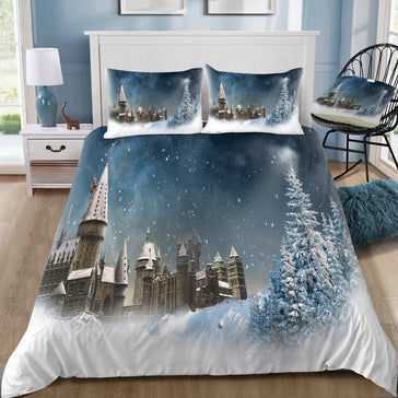 Harry Potter Hogwarts In The Winter 3pcs Bedding Set - Mermaid Freak