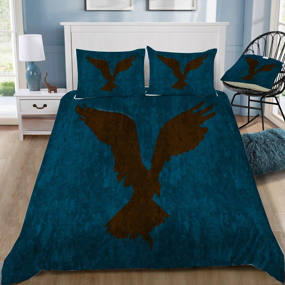Harry Potter RavenClaw Eagle Pattern 3pcs Bedding Set - Mermaid Freak