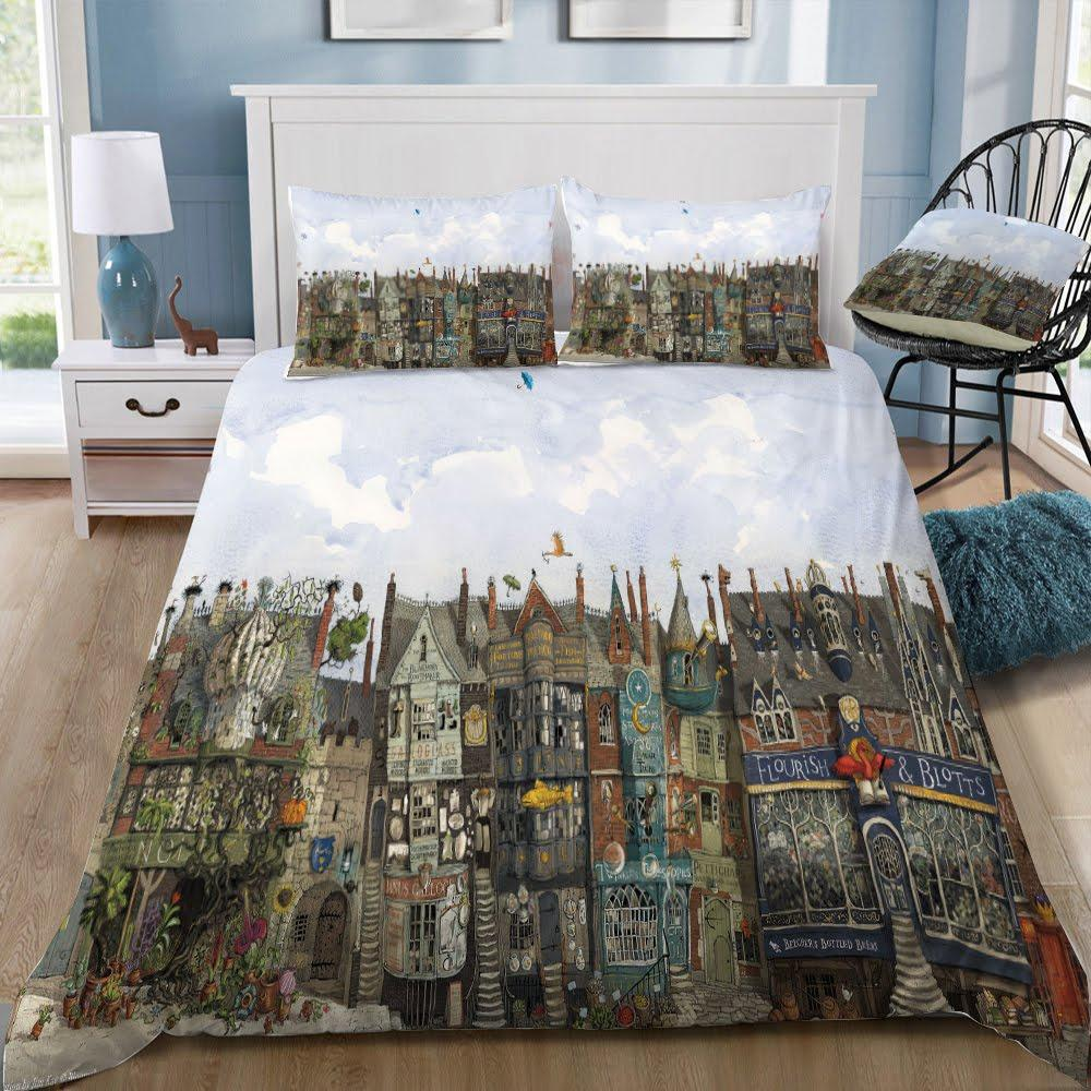 Harry Potter Series Hogwarts 3pcs Duvet Cover Set - Mermaid Freak