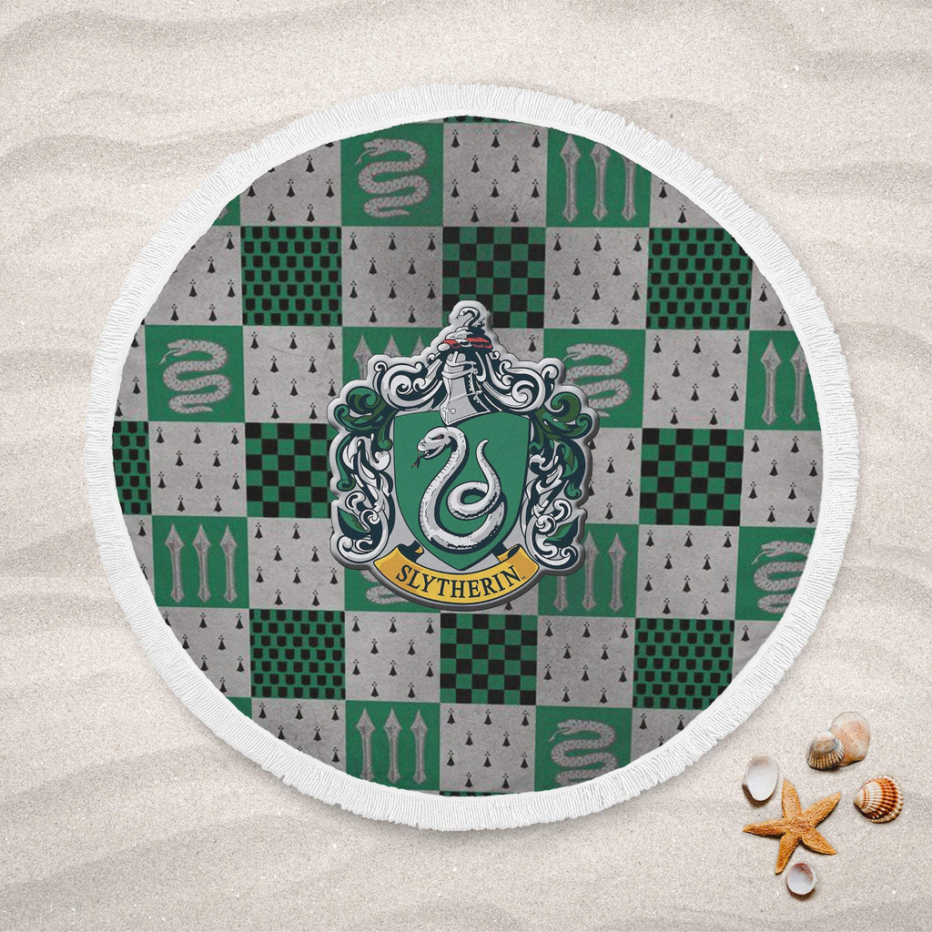 Harry Potter Slyhterin Round Beach Towel, Slytherin Gifts, Harry Potter Decors, Harry Potter Gifts - Mermaid Freak