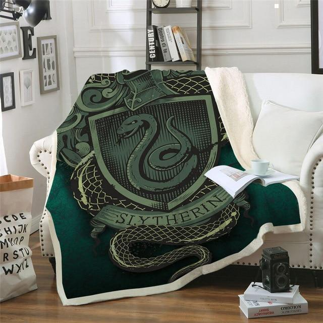 Harry Potter Slytherin 3D Printed Blanket - Mermaid Freak