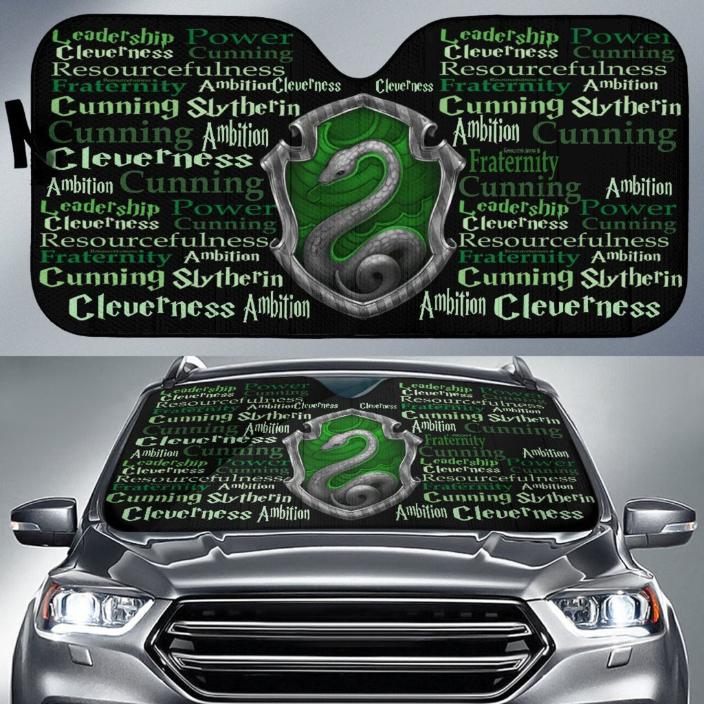 Harry Pottery Slytherin Auto Sun Shade, Slytherin Gifts - Mermaid Freak