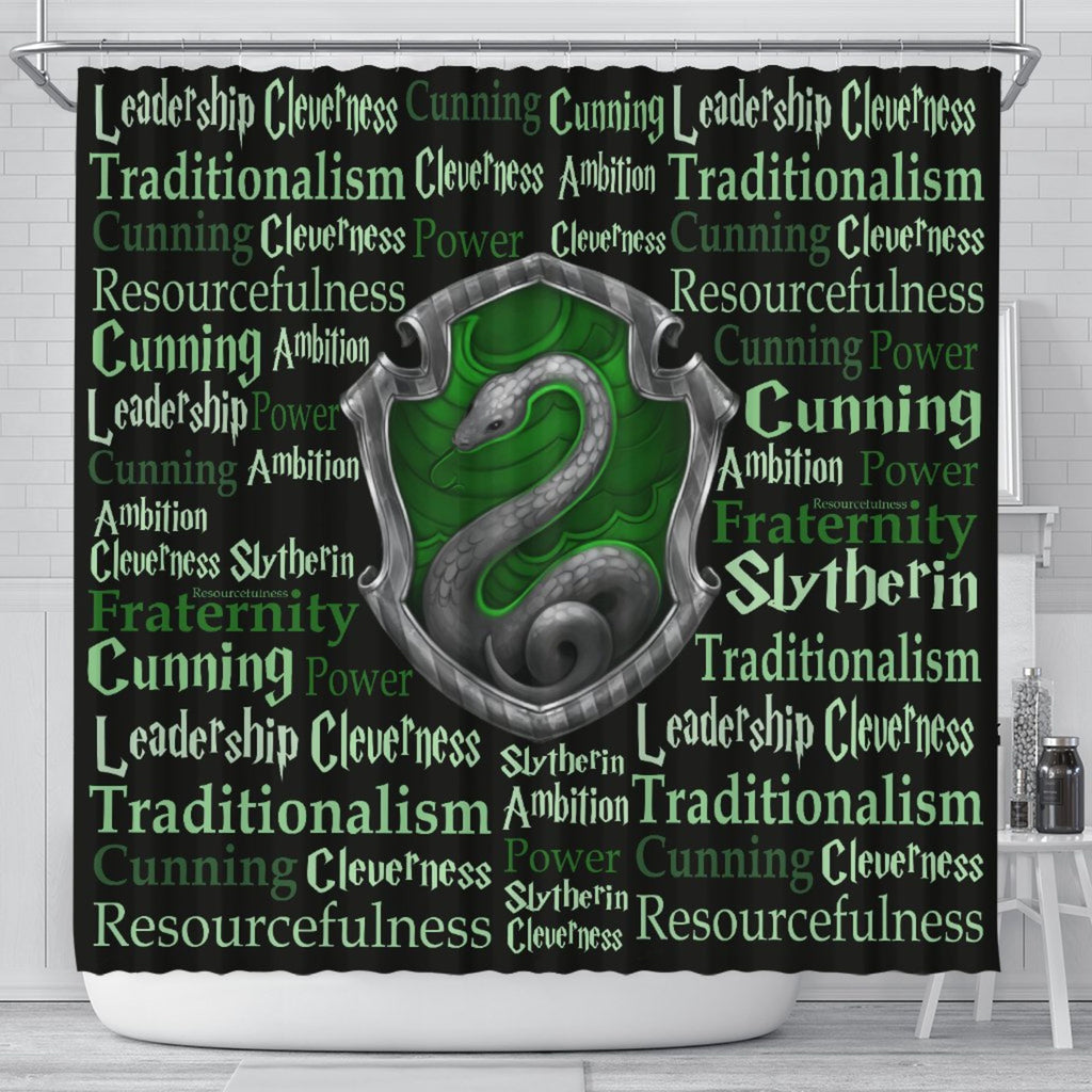 Harry Pottery Slytherin Shower Curtain, Harry Pottery Gifts - Mermaid Freak