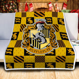 Harry Pottery Hufflepuff Blanket, Hogwarts Wizard Geek Movie Gifts
