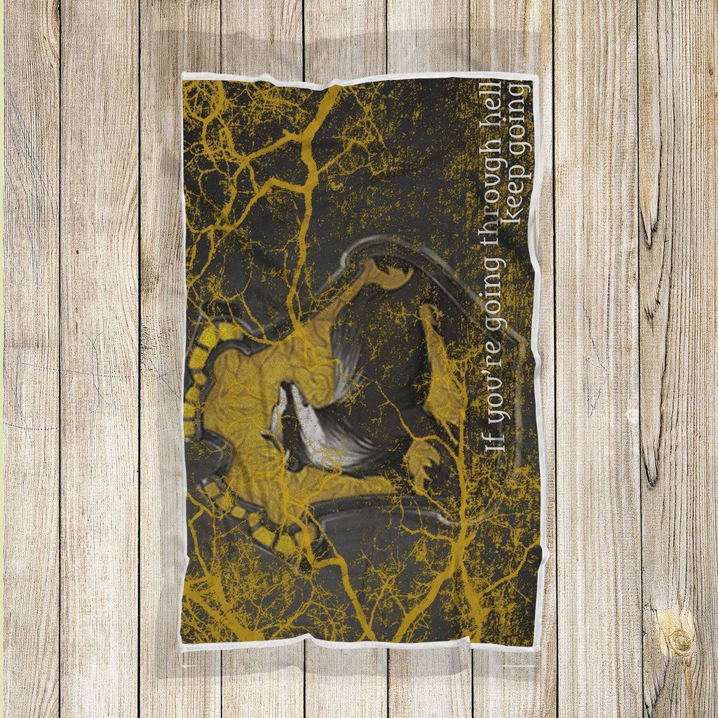 Hufflepuff Harry Pottery Hogwarts Wizard Geek Movie Blanket, Harry Potter Blanket - Mermaid Freak