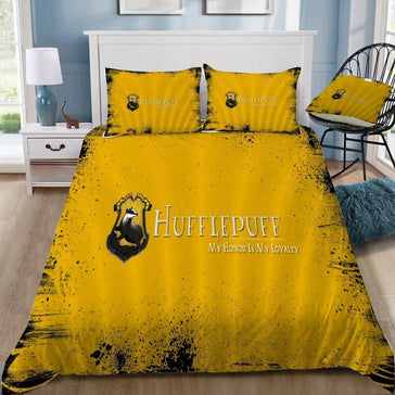 Hufflepuff My Honor is My Loyality Bedding Set - Mermaid Freak