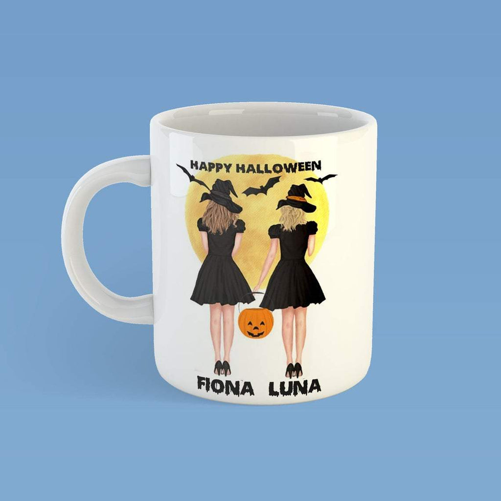 Personalized Happy Halloween Mug,Halloween Witch And Pumpkins, Dog Lovers,Custom Gift For Best Friend- ECSET2005 - Mermaid Freak
