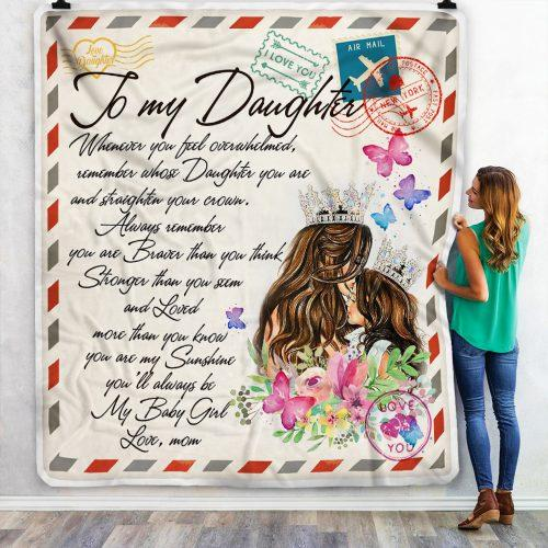 Letter To My Daughter, Special Gift To My Daughter Blanket, Personalized Blanket, From Mom To My Daughter, NS1 - Mermaid Freak