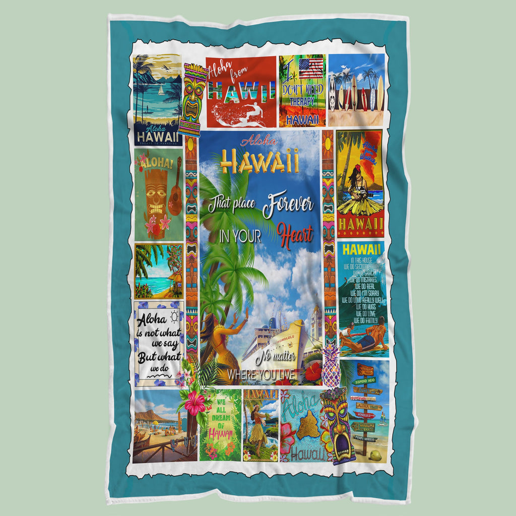 Aloha Hawaii That Place Forever In Your Heart Blanket - RH2728 - Mermaid Freak