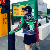 Graffiti Skull Leather Jacket