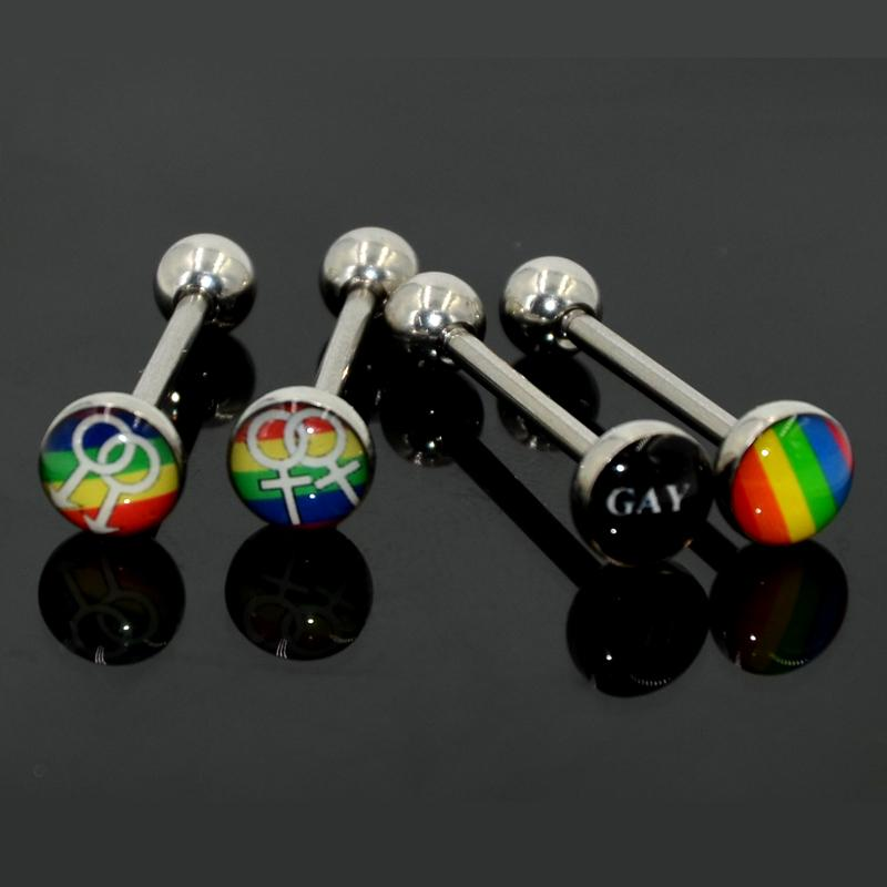 Pride Tongue Rings (4 Pieces) - Mermaid Freak