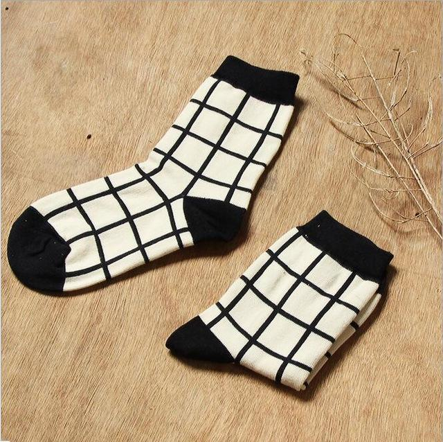 Black-White Harajuku Socks - Mermaid Freak