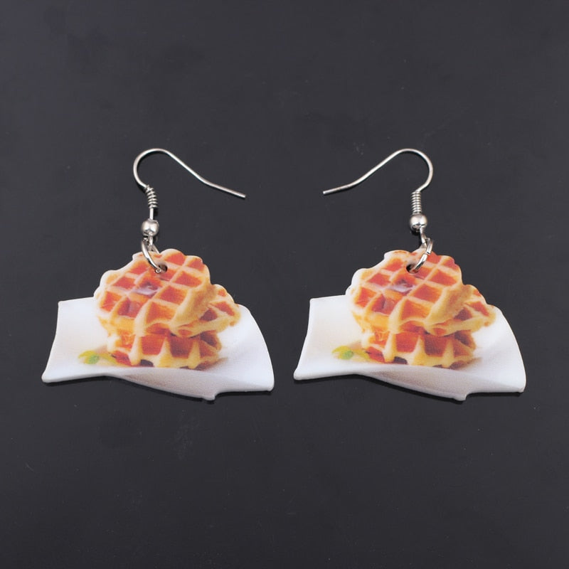 Waffle Earrings - Mermaid Freak