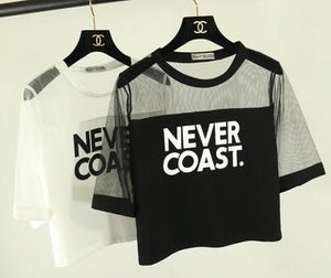 3704f157c81dc Never Coast Crop Top T-Shirts