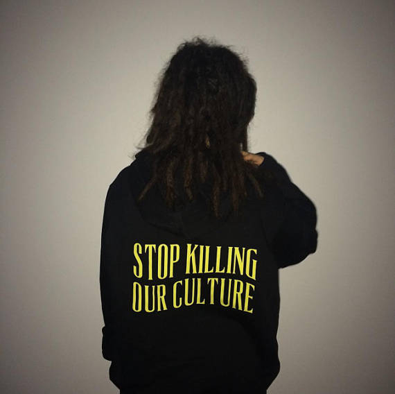 """Stop Killing Our Culture"" Aesthetic Hoodies - Mermaid Freak"