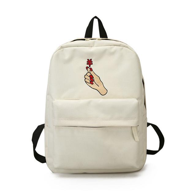 K-Pop Harajuku Embroidery Heart Couple Backpacks - Mermaid Freak