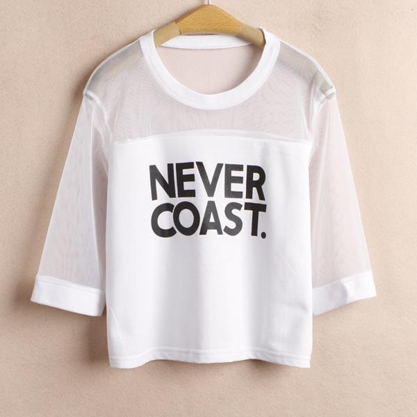 a1b199df4b872 Never Coast Crop Top T-Shirts – Mermaid Freak