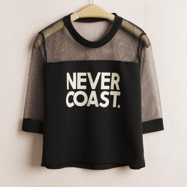 9d00907d870ed Never Coast Crop Top T-Shirts - Mermaid Freak ...