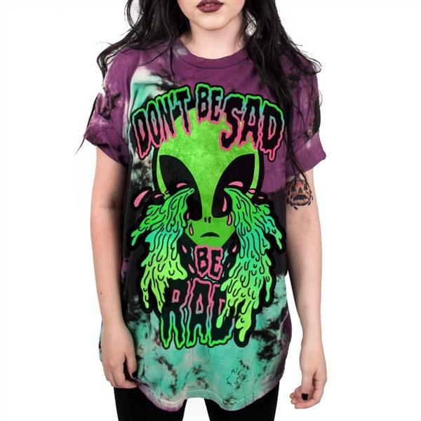"""Don't Be Sad, Be Rad "" Alien Aesthetic T-Shirts - Mermaid Freak"