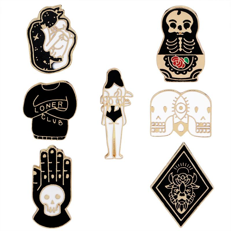 Evil Gothic Pins - Mermaid Freak