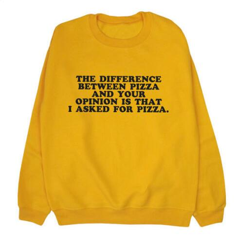 """The Difference Between Pizza and Your Opinion"" Sweatshirt - Mermaid Freak"
