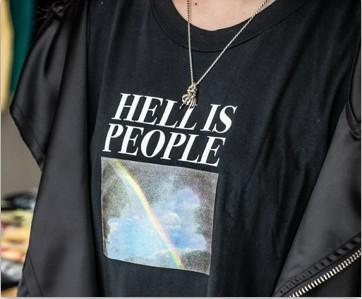 """Hell Is People ""Rainbow T-Shirt - Mermaid Freak"