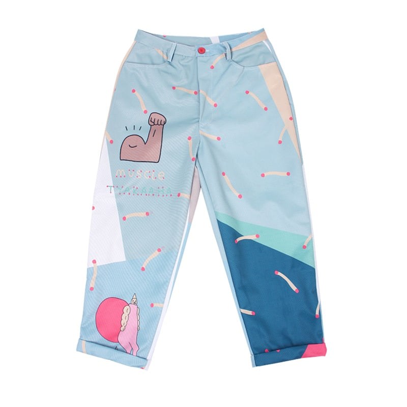 Printed Funny Female High-waist Trousers Pants - Mermaid Freak