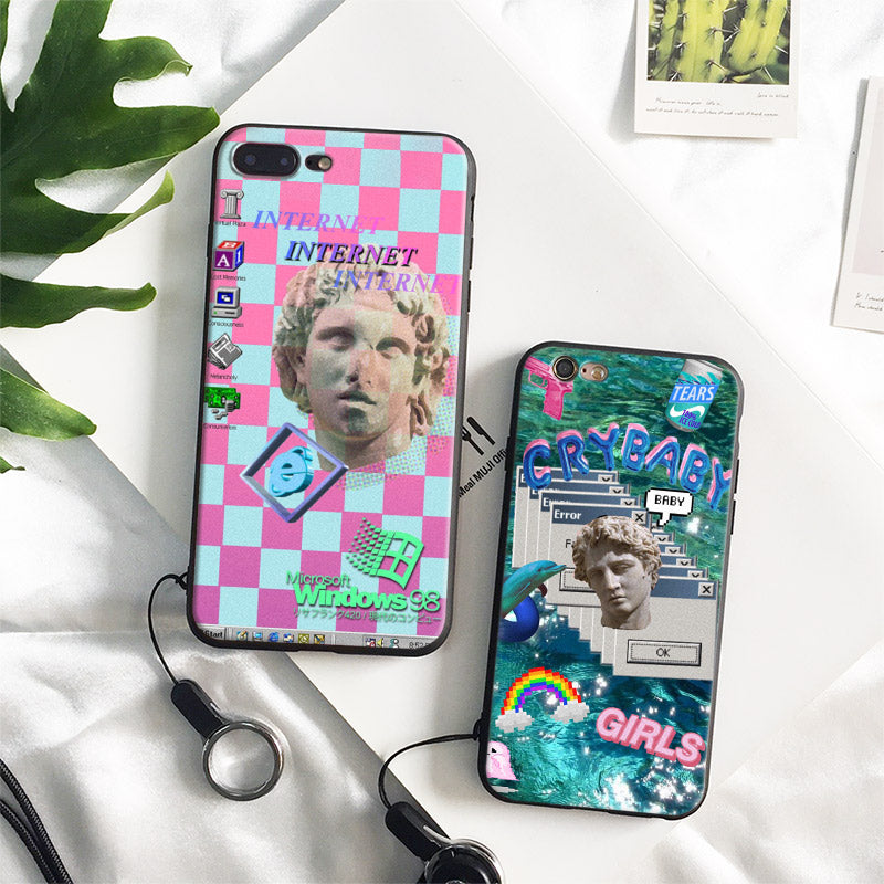 Aesthetic Windows 98 Pop Art Vaporwave Art Phone Case - Mermaid Freak