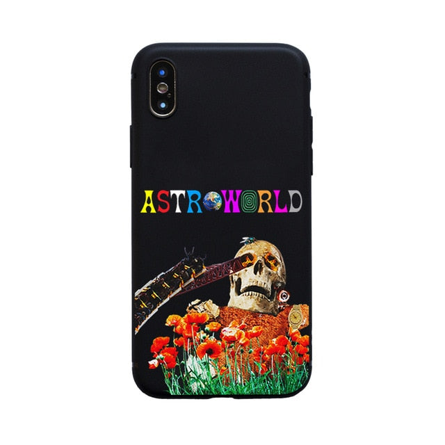 Astroworld Skulls Sicko Mode iPhone Cases - Mermaid Freak