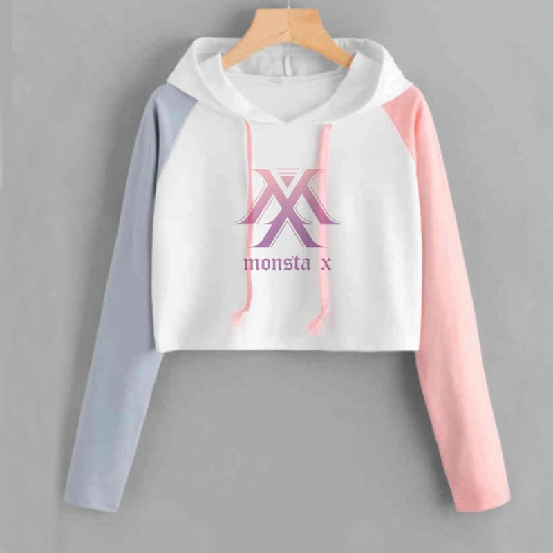 Monsta X Kpop  Crop Hoodies - Mermaid Freak