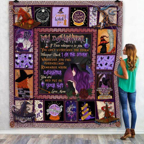 To My Daughter Blanket Witch Face Blanket, Mom's Wishes, Souvenir Blanket, Best Wishes To My Daughter, NS1 - Mermaid Freak