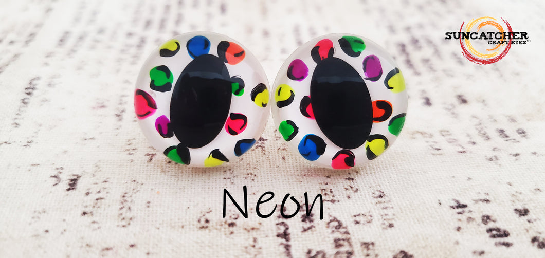 Leopard Print Cat Eyes by the Pair