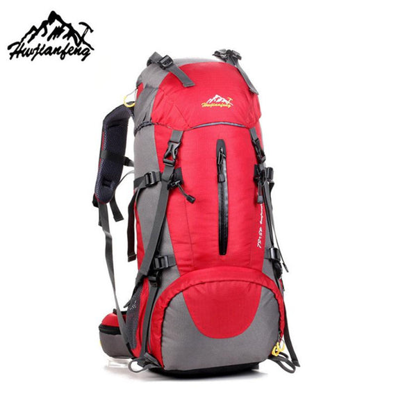 50L-70L Outdoor Hiking Waterproof Folding Backpack