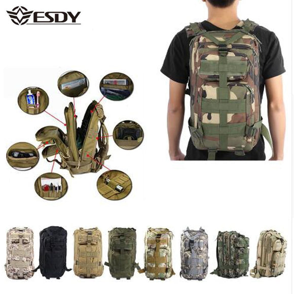Military Tactical Backpack 30L Camouflage Outdoor Hiking/Camping