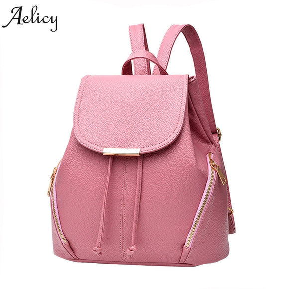 Aelicy Leather Backpacks