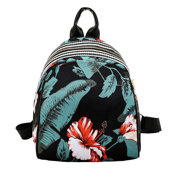 Feather Printed Backpacks