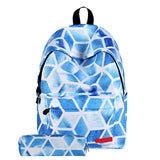 Aelicy 2pcs Stars Universe Backpack w/Pencil Bag