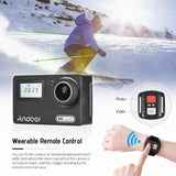 "Andoer AN300 4K WiFi 16MP Action Sports Camera Novatek 96660 Dual Display 2"" Rotary LCD 170° Wide Angle 30m  Waterproof with Remote Control Hard Case Support Time Lapse Slow Motion"