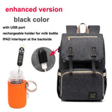 USB Charging Nursing Backpack Large Capacity Waterproof For Baby Care